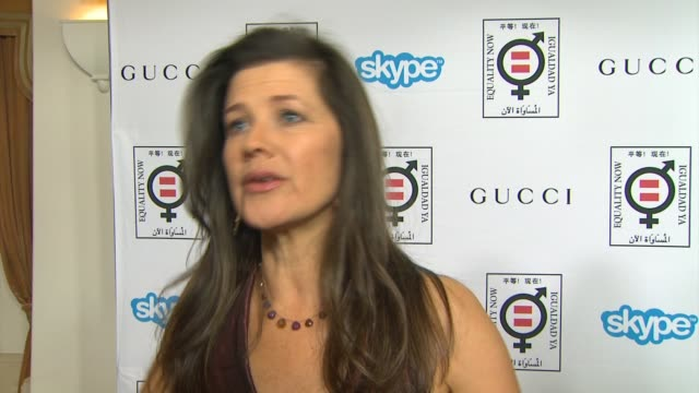 interview daphne zuniga on why it's important for her to support equality now her advice on how to make equality a reality and thoughts on the... - equality now stock videos and b-roll footage