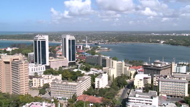 vídeos y material grabado en eventos de stock de dar es – salaam, tanzania, vista aérea - tanzania