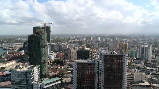 dar es salaam, tanzania, aerial view
