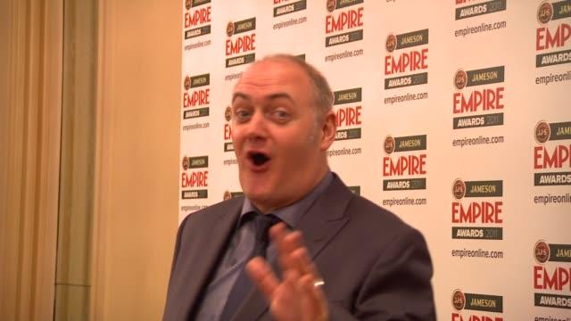dara o'briain at the jameson empire awards at london england. - dara o'briain stock videos & royalty-free footage
