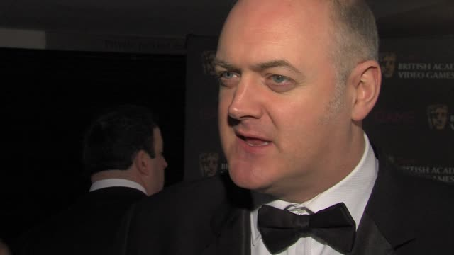 dara o'briain on the audience at the awards on what last gave him the wow factor at the game british academy video games awards 2011 at london england - dara o'briain stock videos & royalty-free footage