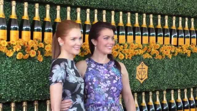 Darby Stanchfield and Bellamy Young at the sixth annual Veuve Clicquot Polo Classic at Will Rogers Historic State Park in Pacific Palisades at...