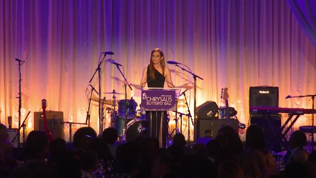 speech darby stanchfield at 14th annual chrysalis butterfly ball in los angeles ca - chrysalis butterfly ball video stock e b–roll