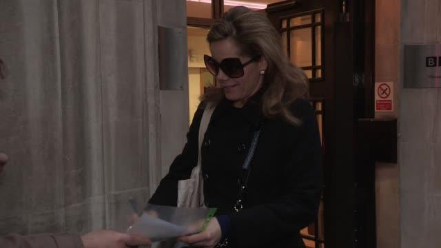 vídeos de stock e filmes b-roll de darcey bussell at celebrity video sightings at bbc radio on december 07 2012 in london england - aparelhagem de áudio