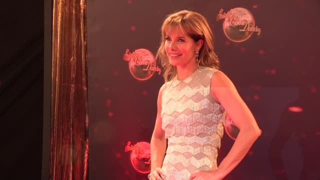 darcey bussell at strictly come dancing at elstree studios on september 03 2013 in borehamwood england - ハートフォードシャー点の映像素材/bロール