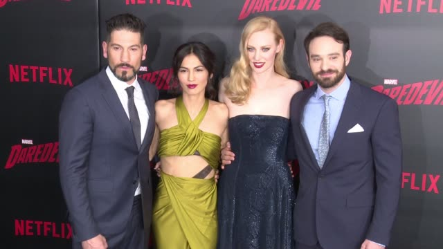 clean daredevil season 2 premiere at amc loews lincoln square on march 10 2016 in new york city - amc loews stock videos and b-roll footage
