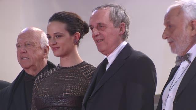 Dario Argento Unax Ugalde Marta Gastini Thomas Kretschmann and Asia Argento at Dario Argento's Dracula 3D Premiere 65th Cannes Film Festival on May...