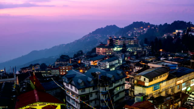 PR TL D2N Darjeeling city view from high angle shot
