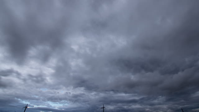 t/l, dark and cloudy weather. - telegraph pole stock videos and b-roll footage