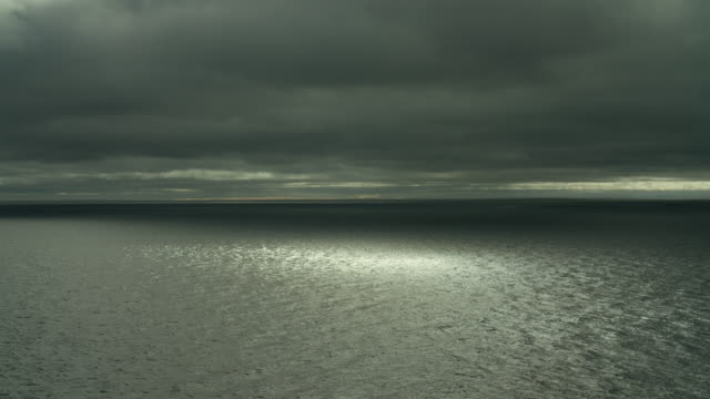 Dark And Stormy Sky Over Seascape