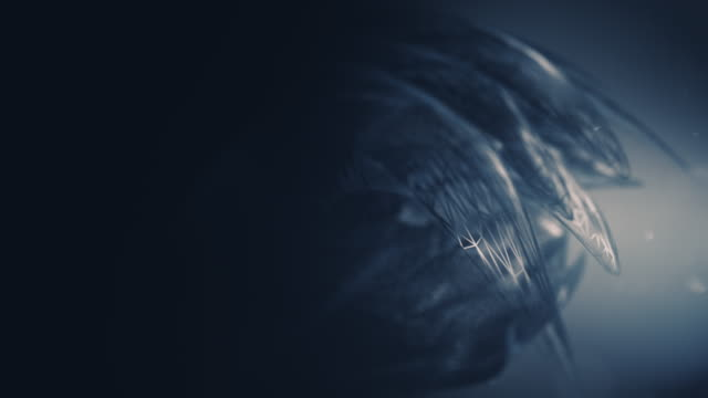 Dark animated abstract 3D background