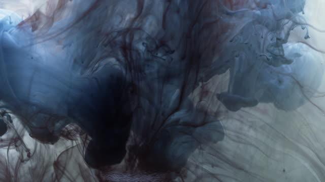 dark blue ink in water - dark blue stock videos & royalty-free footage