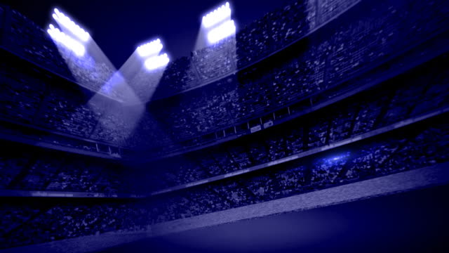 dark blue stadium stands background loop - american football sport stock videos & royalty-free footage