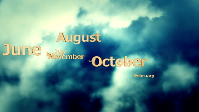 dark clouds and months - month stock videos & royalty-free footage