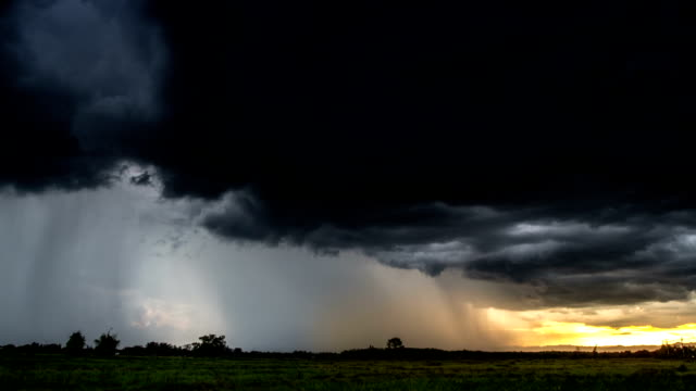 Dunkle Wolken vor einem thunder-Sturm, timelapse