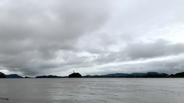 dark clouds gather over brahmaputra river gauhati on 23 october 2020. - dramatic sky stock videos & royalty-free footage