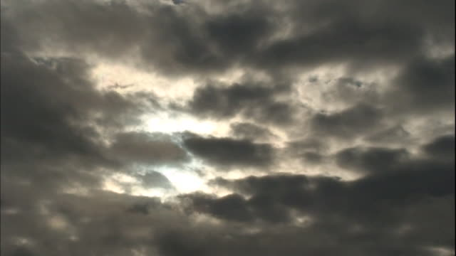 dark clouds hide the sun. - yamagata prefecture stock videos & royalty-free footage