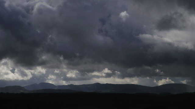 dark clouds mixed with sun and rain - storm cloud stock-videos und b-roll-filmmaterial