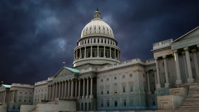 dark clouds timelapse above u.s. capitol building house refers to protesters storm,  in washington, dc stock video - state capitol building stock videos & royalty-free footage