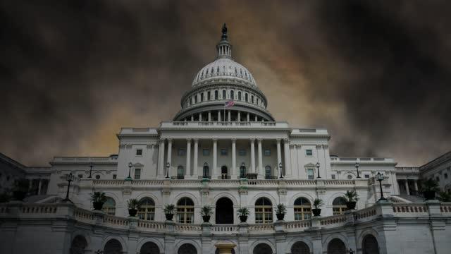 dark clouds timelapse above u.s. capitol building house refers to protesters storm,  in washington, dc stock video - monument stock videos & royalty-free footage
