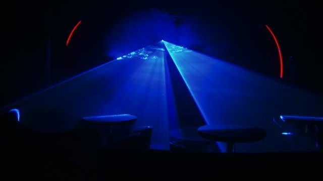 HD: Oscuridad Club escena con láser azul