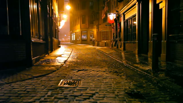 dark cold urban street - alley stock videos & royalty-free footage