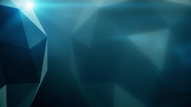 vídeos de stock, filmes e b-roll de laço de fundo de cristal escuro tecnologia - manipulação digital