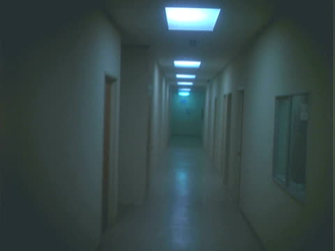 DS Dark empty hallway in an office building / Los Angeles, California, United States