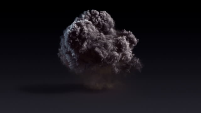 Dark explosion with alpha matte. 3d rendering