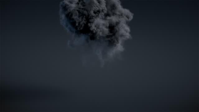 Dark explosion with alpha matte