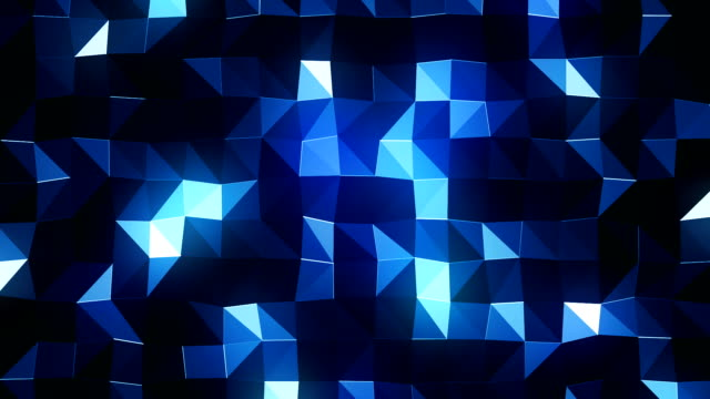 dark geometric background (loopable) - blue background stock videos & royalty-free footage