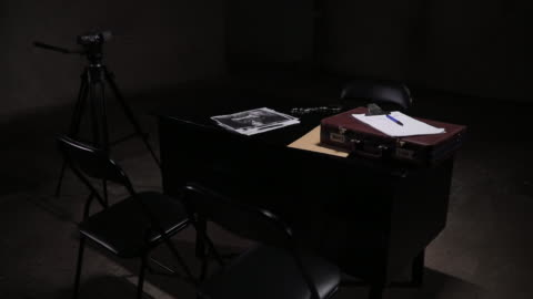 dark interrogation room - surveillance stock videos & royalty-free footage