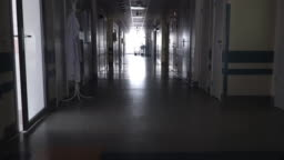 Dark Long Hallway with the in the Hospital