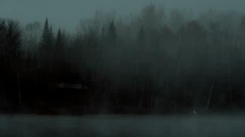dark misty lake loop - fear stock videos & royalty-free footage
