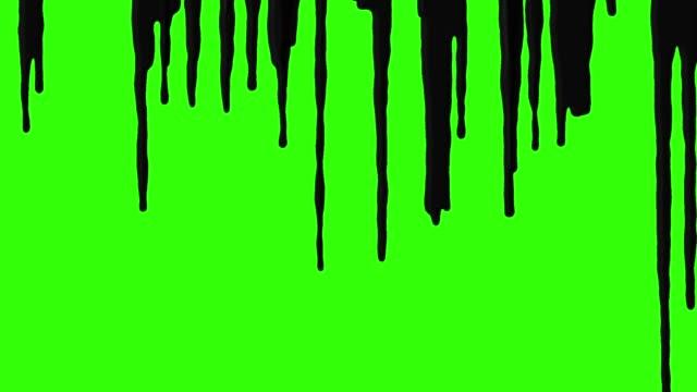 dark paint falling down - freshly painted stock videos & royalty-free footage