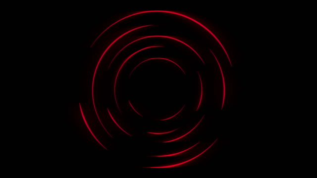 dark red neon loading waiting rings video animation - loopable moving image stock videos & royalty-free footage