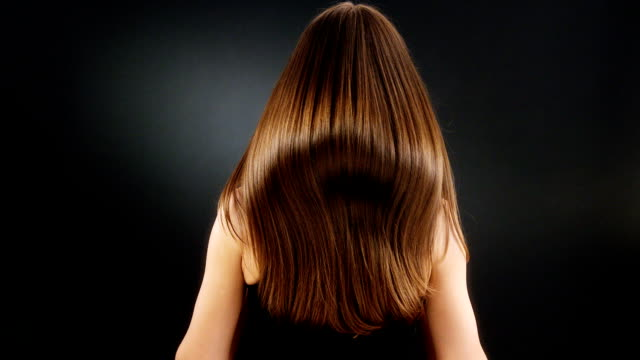 dark shiny hair - long hair stock videos and b-roll footage