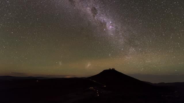 dark starry sky of the atacama desert - cerro paranal stock videos and b-roll footage