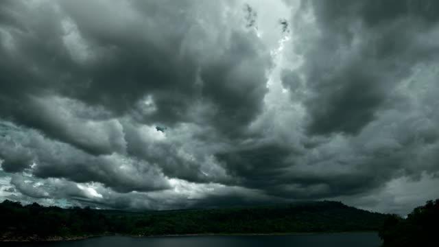 dark storm cloud rain time lapse 4k - high dynamic range imaging stock videos and b-roll footage