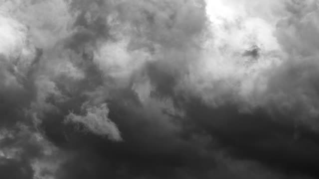 dark storm clouds rolling, moving, flowing in time lapse - storm cloud stock videos & royalty-free footage