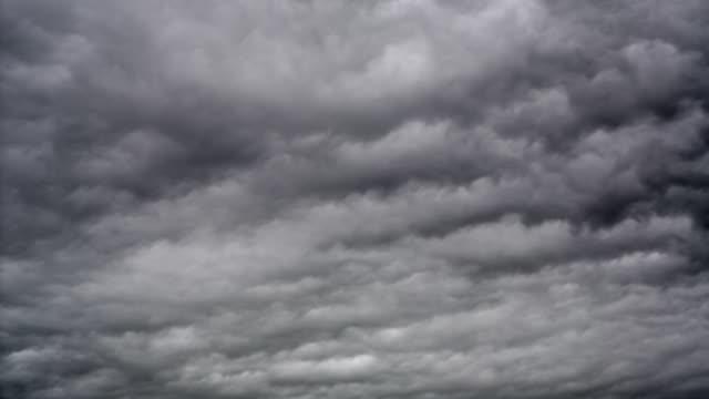 time lapse: dark storm clouds - cumulonimbus stock videos & royalty-free footage