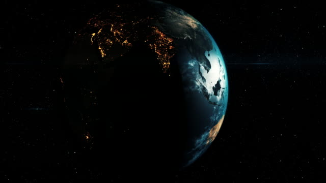 Dark Toned Planet Earth with galaxy