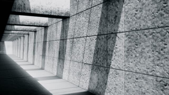 stockvideo's en b-roll-footage met donkere ondergrondse tunnel-verlaten ondergrondse garage - doolhof