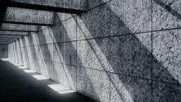 Dark underground tunnel - Abandoned underground garage