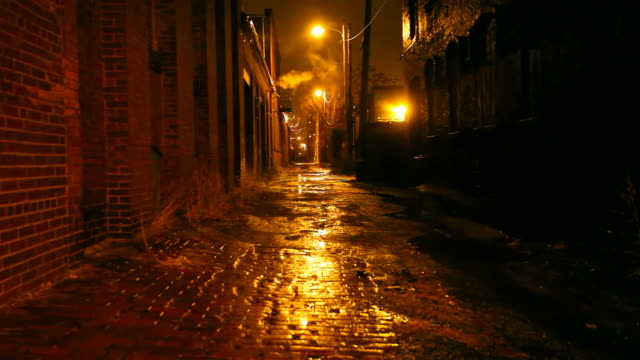 dark urban alleyway - alley stock videos & royalty-free footage