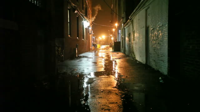 Dark Urban Alleyway
