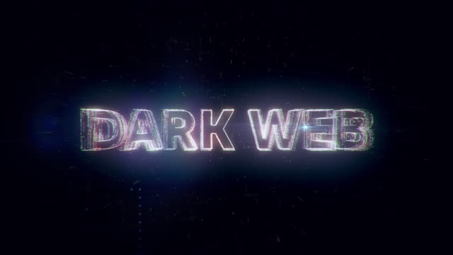dark web words animation - censura video stock e b–roll