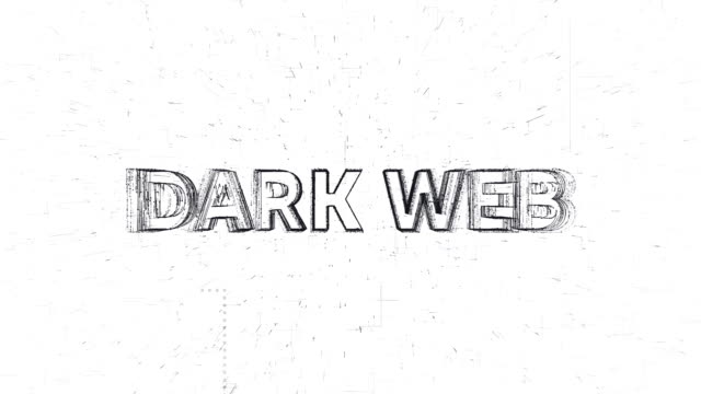 Dark Web words animation