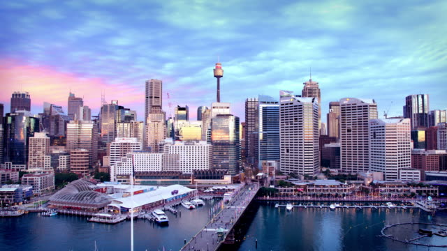darling harbour, sydney, australia - sydney stock videos & royalty-free footage