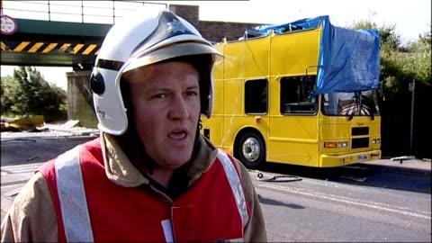 darlington schoolbus crash; dane rollo interview sot - darlington north east england stock videos & royalty-free footage